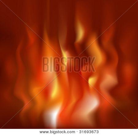 Fire background. Vector illustration. (RGB-model)