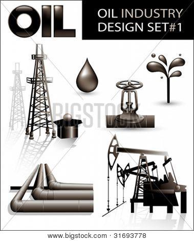 Projeto conjunto de imagens de vetor de indústria de óleo (1).
