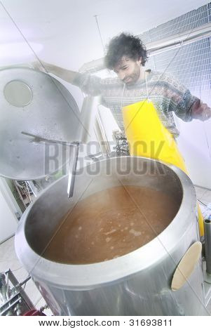 Brewer Controls The Firing Of The Beer