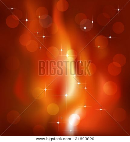Sparkling flame background. Vector illustration. (Rgb-model, no transparency).