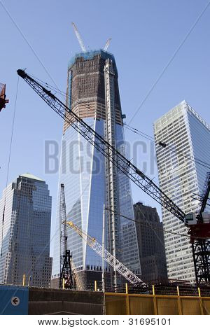 New York - Oct 8: Progress On Rebuilding The World Trade Center, Which Was Destroyed In The 9/11 A