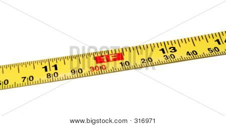 Isolated Tape Measure: 1 Foot