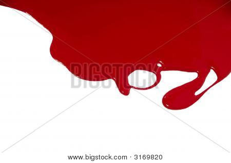 Red Flowing Paint