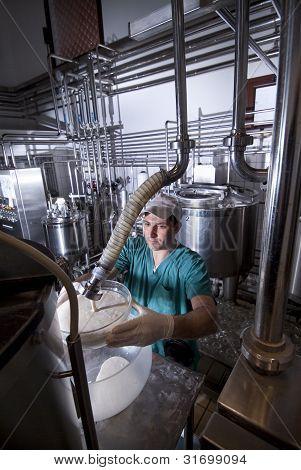 Produção de iogurte
