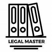 Legal Master Folder Icon. Outline Legal Master Folder Vector Icon For Web Design Isolated On White B poster