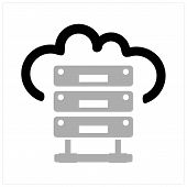 Hosting Icon Vector Black And Gray Colors, Hosting Icon Modern Flat, Hosting Icon Ilustration Eps 10 poster