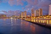 stock photo of waikiki  - Cityscape Waikiki Beach Honolulu Hawaii USA - JPG