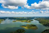 Aerial View Of Aland Islands At Summer Time. Finland. The Archipelago. Photo Made By Drone From Abov poster