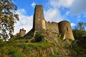 Picturesque landscape with Burg Stolpen. Germany