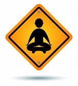 pic of karma  - meditation road sign isolated zen men icon - JPG
