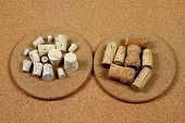 foto of wine-press  - Stock Photo of Different Natural Cork products  - JPG