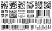Barcodes. Scan Bar Label, Qr Code And Industrial Barcode. Product Inventory Badge, Codes Stripe Stic poster