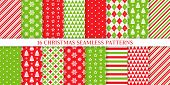 Christmas Seamless Pattern. Xmas, New Year Background. Vector. Endless Texture With Polka Dot, Candy poster