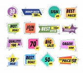 Sale Promo Badges. Guarantee Labels. Promo Sticker Exclusive Premium Best Pricing Tag. Seller Offer  poster
