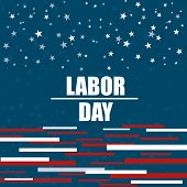 American Labor Day Background. Labor Day Celebration Banner With Text - Labor Day. Vector Illustrati poster