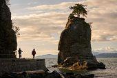 Siwash Rock English Bay Vancouver. English Bay Peaking Around Siwash Rock In Stanley Park. Vancouver poster