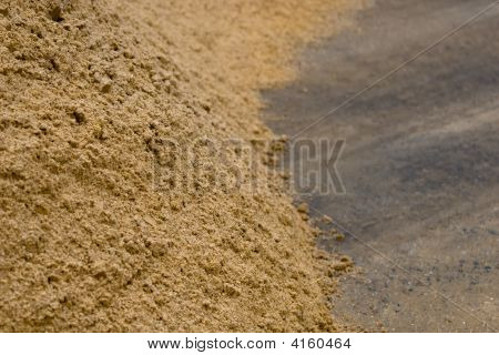 Hill Of Mortar Sand
