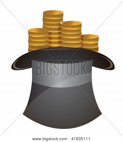 Coin In Hat