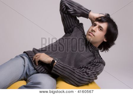 Young Casual Man Posing