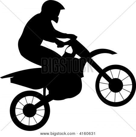 Racer On Motorcycle