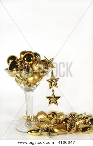 Golden Ornament Martini With Spill
