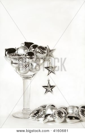 Silver Ornament Martini With Pool
