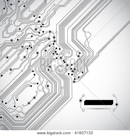 circuit board diagonal background texture - vector