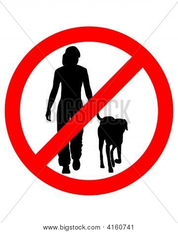 Traffic Sign For Walking With Dogs