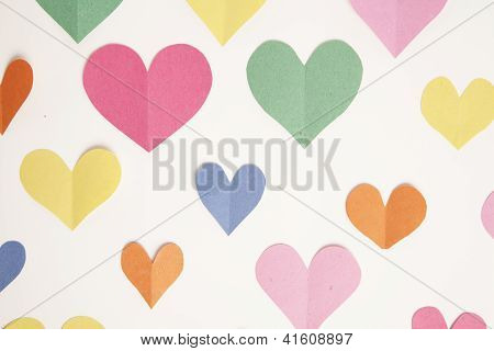 Construction Paper Heart Background