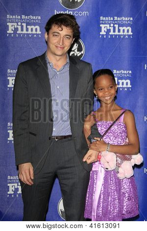 SANTA BARBARA - JAN 29: Benh Zeitlin, Quvenzhane Wallis at the Virtuosos Awards at the 28th Santa Barbara International Film Festival on January 29, 2013 in Santa Barbara, California