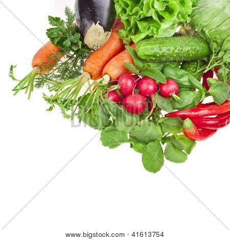 fresh healthy vegetable isolated on white background