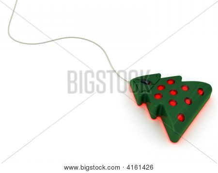 Computer Mouse In Christmas Tree Style