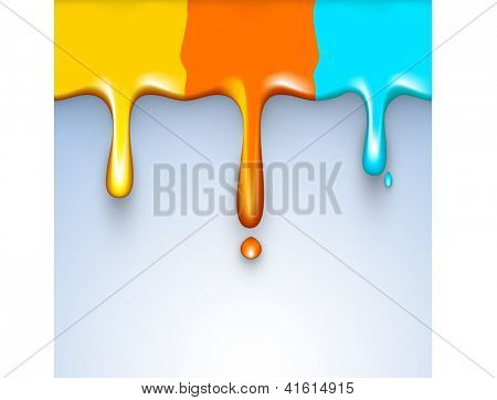 Indian colorful festival Holi celebration background with colors splash on grey background. EPS 10.