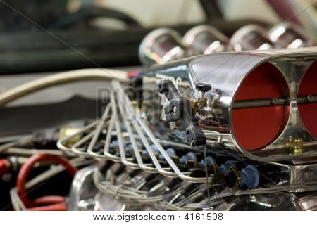 Race Car Engine With Blower