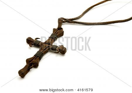 Old Iron Cross Made From Nails