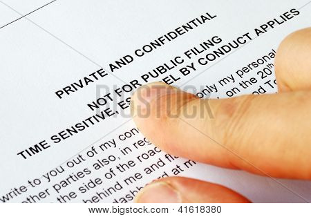 Focus on the privacy and confidential issues