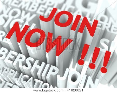 Join Now Concept.