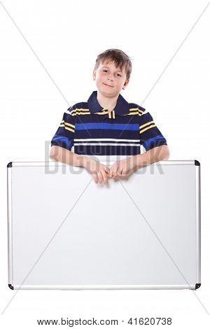 Cute Boy With A Blank