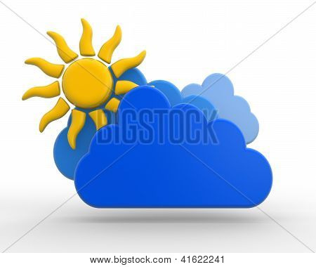 Sun With Cloud