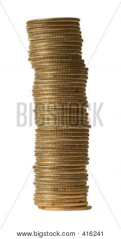 Gold Coins With Clipping Path