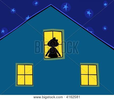 Nacht und silhouette