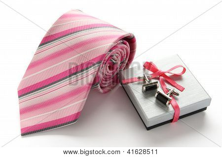 Tie With Cuff Links And Gift Box