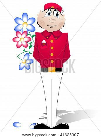 Doorman In A Red Uniform