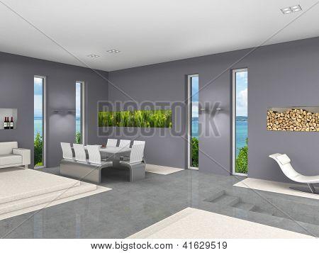 modern interieur met aquarium Stock foto & Stock afbeeldingen ...