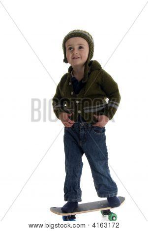Skateboarding Little Boy