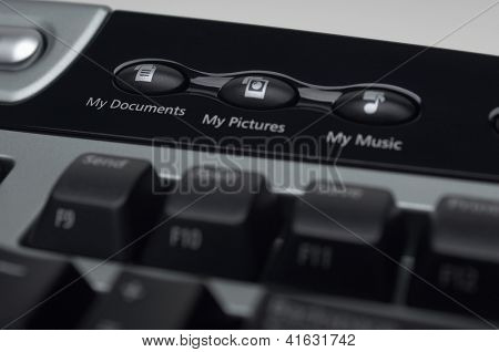 Cropped image of shortcut keys on computer keyboard