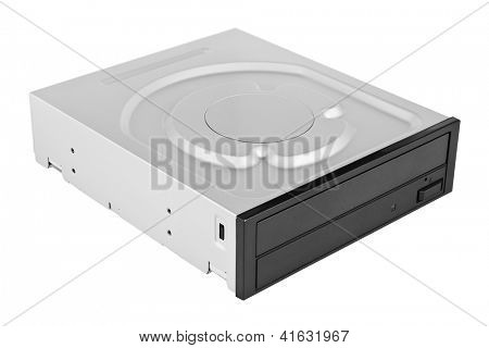 Optical disc drive isolated on white