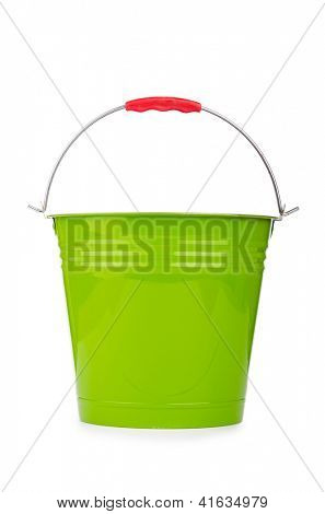 Bucket isolted on the white background