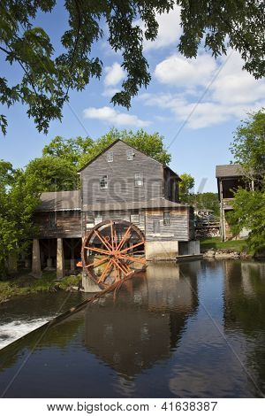 The historic Old Mill in Pigeon Forge was built in 1830 and remains the premier attraction in this town in the Smoky Mountains