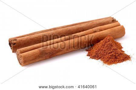 Cinnamon stick in closeup